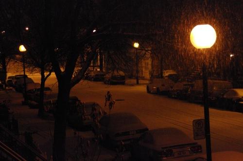 Une première neige qu'apprécieront les sans-abris !